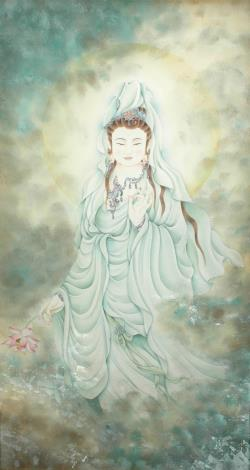 張德怡佛畫師生聯展-03-祈福觀音