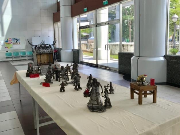 26-林允力鋼雕作品-民間信仰的廟事