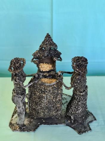 22-林允力鋼雕作品-收納稻米