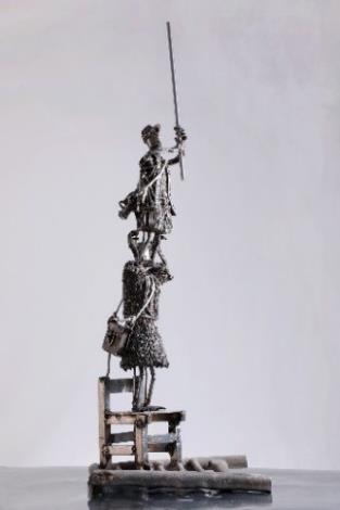 14-林允力鋼雕作品-疊立戲搗鳥巢