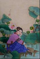 王姿尹書畫師生聯展23-蔡美美-河畔仕女