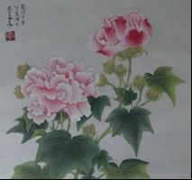 王姿尹書畫師生聯展24-蔡美美-芙蓉花