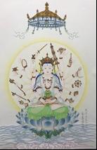王姿尹書畫師生聯展14-蔡麗蘭-準提佛母