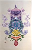 王姿尹書畫師生聯展13-蔡麗蘭-八吉祥