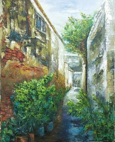 022-吳小芳油畫個展-巷弄街景