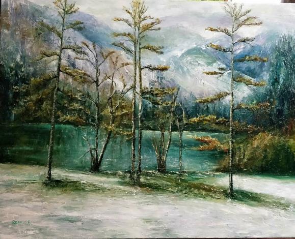 025-吳小芳油畫個展-奧地利湖泊