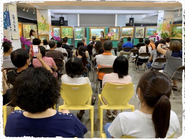 109年6月7日吳小芳油感而畫-開幕茶會現場06