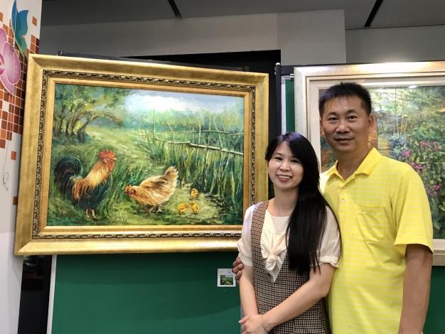 034-竹埔派出所趙森龍所長與畫家老婆吳小芳