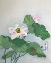 王姿尹書畫師生聯展31-尤湘如-夏荷