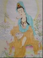 王姿尹書畫師生聯展21-王儷芬-思維菩薩