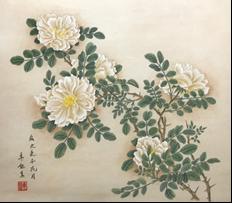 王姿尹書畫師生聯展30-卓鈺真-白薔薇