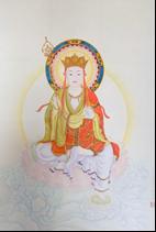 王姿尹書畫師生聯展19-陳芳素-地藏王菩薩