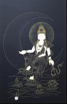 王姿尹書畫師生聯展20-陳芳素-水月觀音