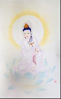 王姿尹書畫師生聯展16-陳芳素-坐蓮菩薩