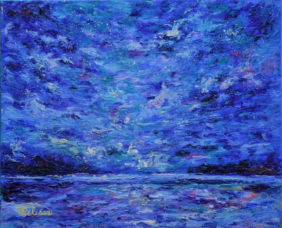 002-蘇品涵繪畫創作展-油畫作品-海闊天空
