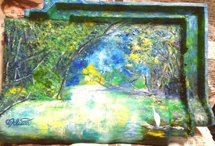 004-蘇品涵繪畫創作展-油畫作品-綠意盎然