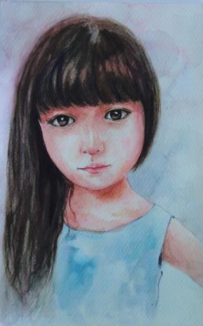 012-蘇品涵繪畫創作展-水彩作品-人物寫生