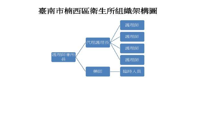 楠西區衛生所組織架構