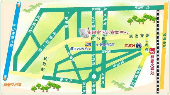 臺南市民治市政中心地圖