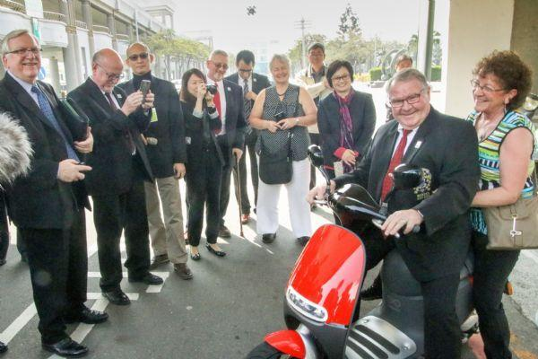 The ICF Delegate tried electronic motorcycle