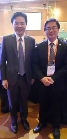 Mayor Li and Minister  Lawrence Wong