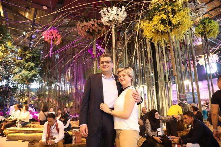 Representative of the MTC in Taipei Mr. Sergey Petrov and his wife