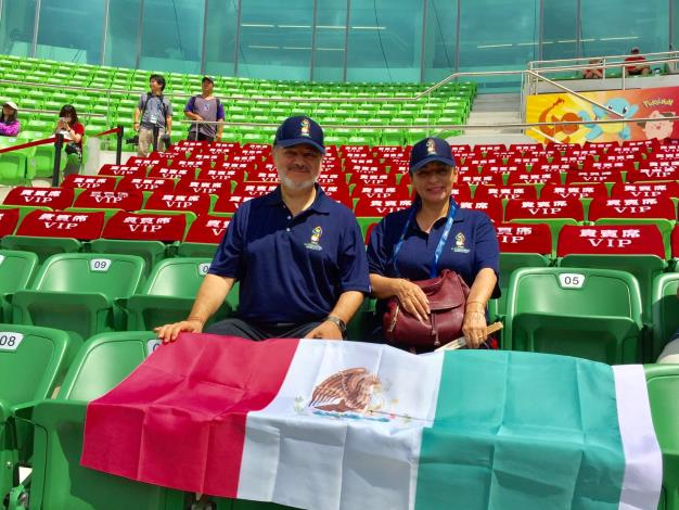 Mexican Representative Martin Torres Cheers on Athletes in Tainan-2