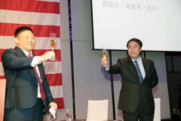 Mason Yu Assumes the Position as Chief of AIT's Kaohsiung Branch Office. Tainan Mayor Huang Wei-che Looks forward to Strengthening U.S.-Taiwan Collaborations. 2