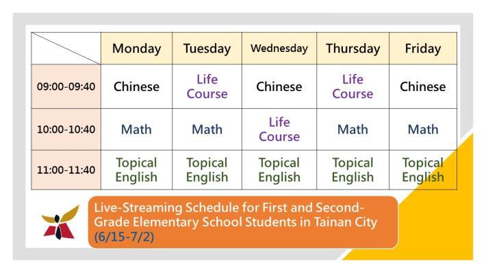 20210611.中文134字-台南市國小低年級停課期間直播課表_ENG