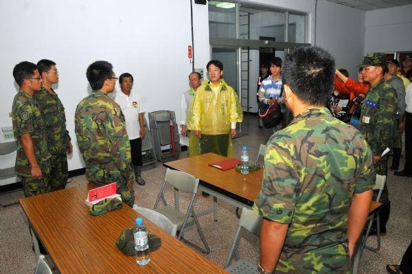 101年6月20日賴市長感謝國軍弟兄進駐南化區協助救災