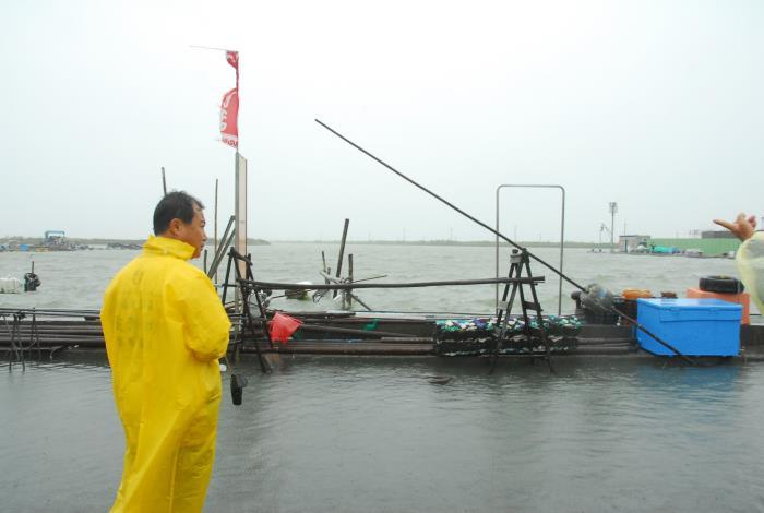 將軍青鯤鯓漁港已近滿水位