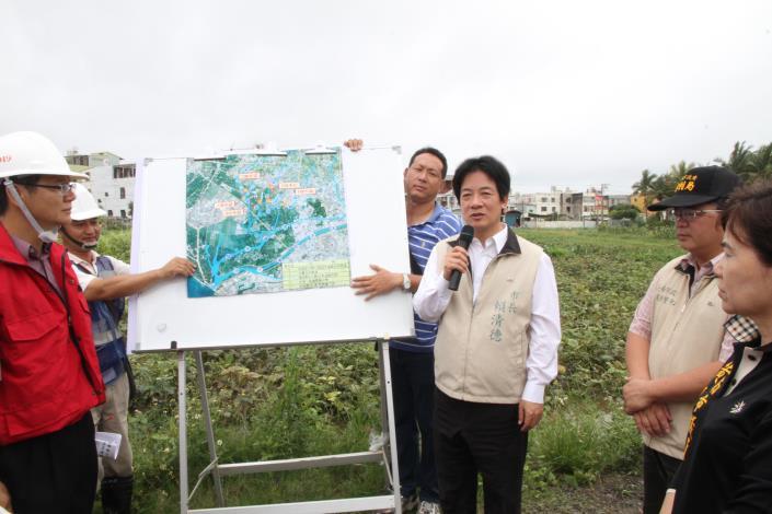 市長視察安南區抽水站