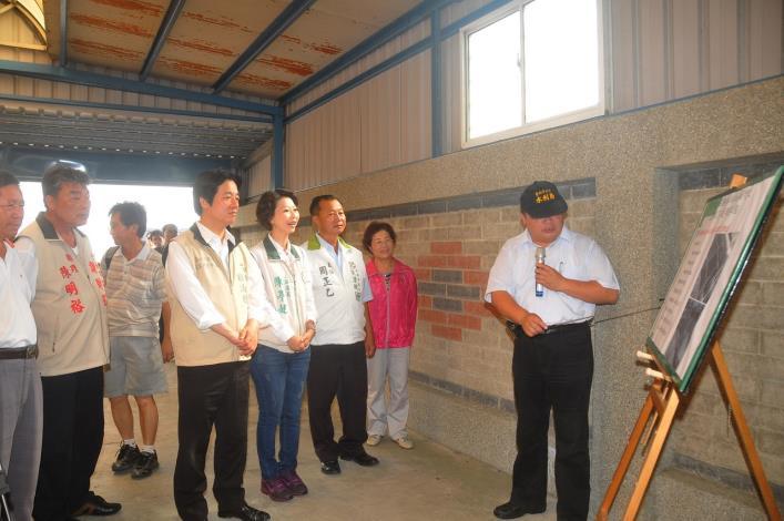 蘇力颱風賴市長視察青鯤鯓抽水站