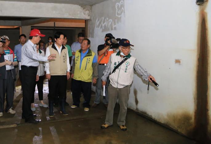 賴市長視察新營區延平里地下室