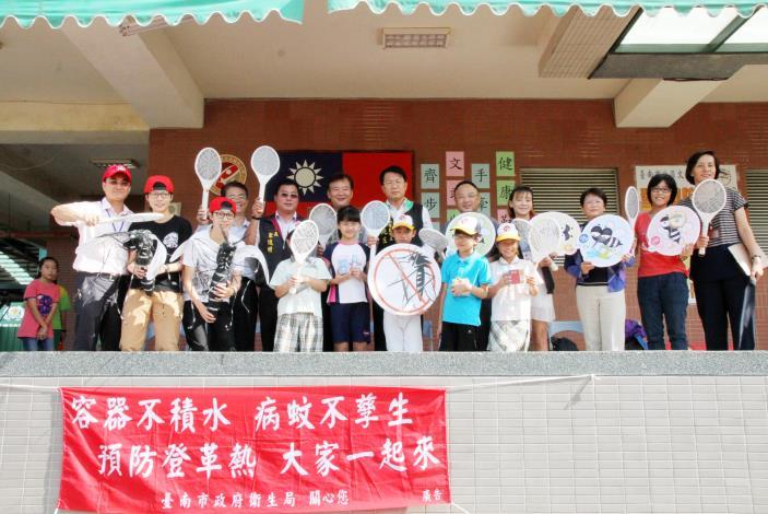 顏副市長到北區文元國小向學生宣導登革熱防疫知識
