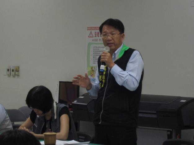 顏純左副市長主持教育訓練