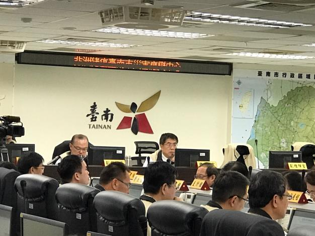 黃偉哲市長主持非洲豬瘟災害應變中心會議