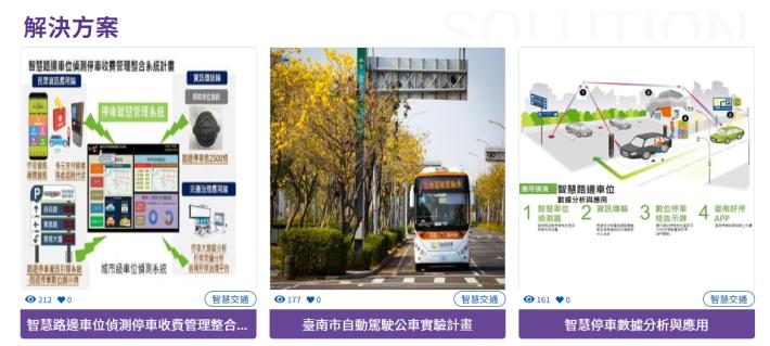 臺南市政府智慧城市方案示意圖
