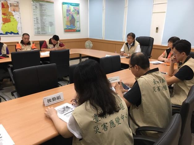 因應「白鹿颱風」台南市與本區調升為1級開設,並由歸仁區災害應變中心指揮官召集各組開設應變及整備會議1