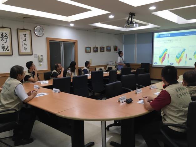 因應「白鹿颱風」台南市與本區調升為1級開設,並由歸仁區災害應變中心指揮官召集各組開設應變及整備會議3