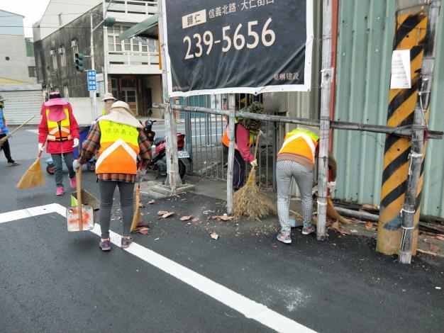 看西里環保義工街道清理