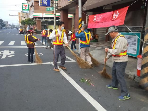 義工們街道清理