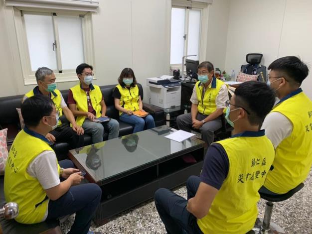 臺南市災害應變中心於26日20時30分開設二級一階