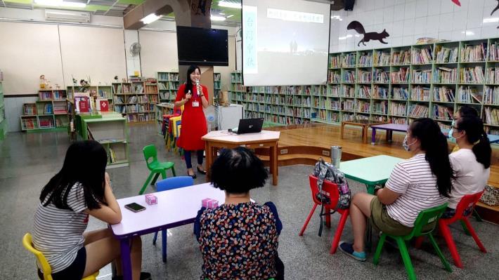 今(9/30)日,本區圖書館新住民文化認識系列結合「921國家防災月」辦理防災宣導