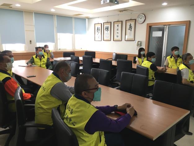 召開【閃電颱風】災害應變中心整備會議