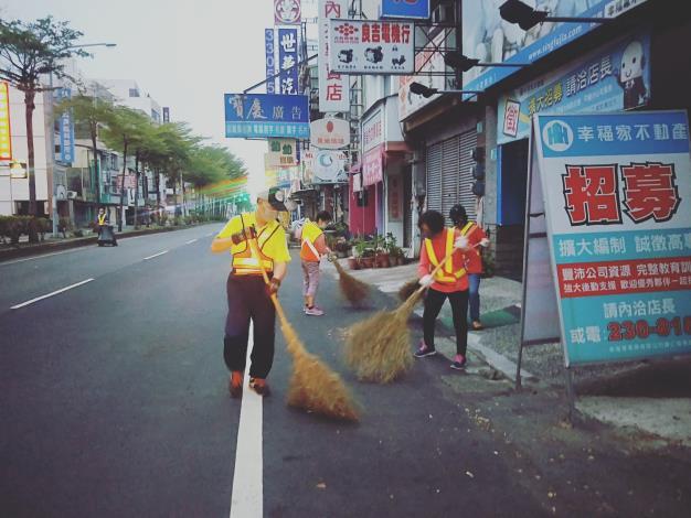 後市里義工隊掃街