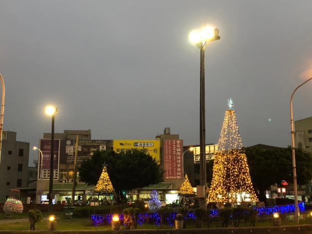 圓環聖誕燈