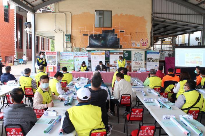 區長柳世雄除感謝與會里長協助災情查通報作業及各組成員針對區內防災工作的通力合作