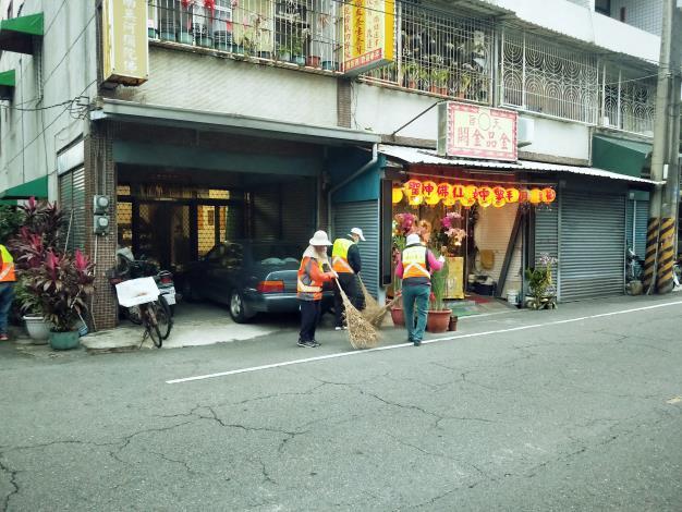 環保義工隊打掃社區1