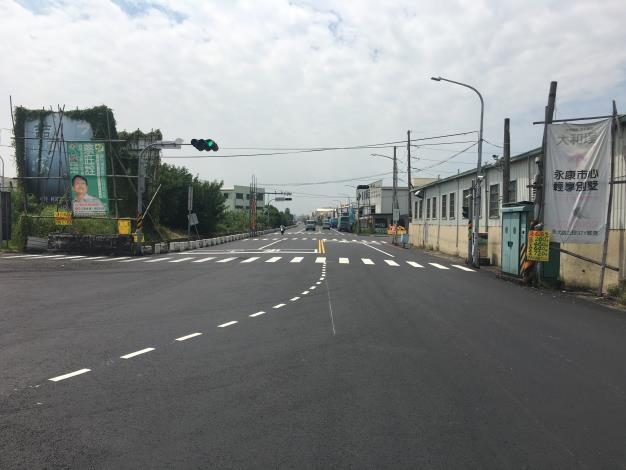 永康區自強路環工路至王行路口彎道